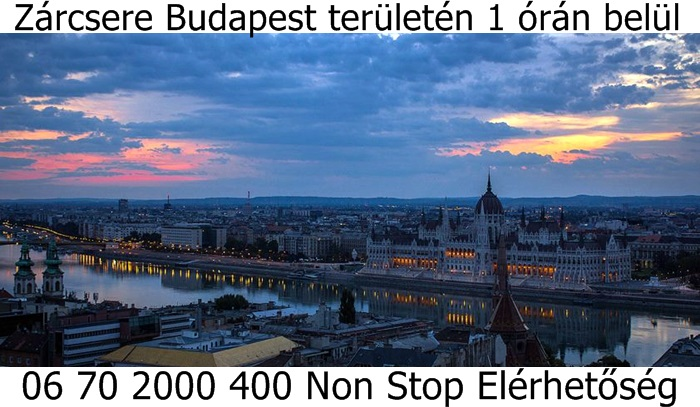 Budapest zárcsere